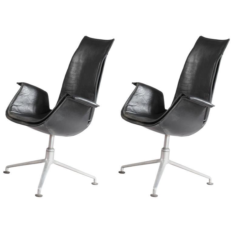 Pair of FK 6725 Tulip Chairs by Preben Fabricius & Jørgen Kastholm