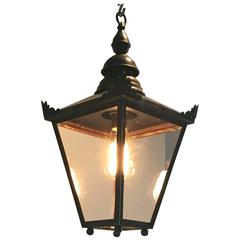 Diminutive English Copper Hanging Lantern, Signed DW Windsor