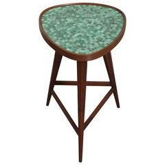 Dunbar Occasional Table by Edward Wormley with Murano Glass Tile