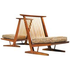 Pair of Conoid Cushion Chairs by George Nakashima, 1983