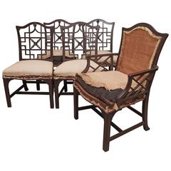 Set of Chinese Chippendale Dining Chairs