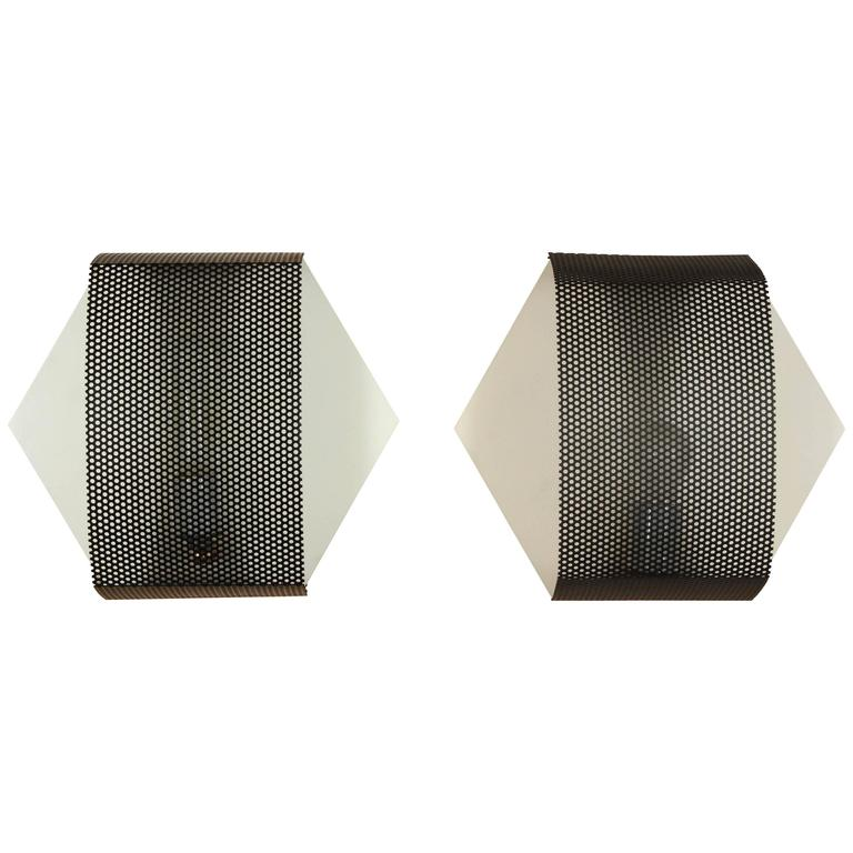 Perforated Hex Sconce by Lawson-Fenning For Sale