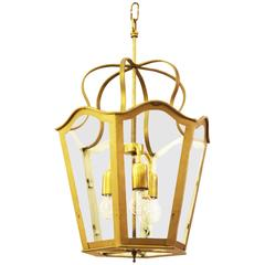 Large Viennese Stairwell or House Entrance Lantern, Art Nouveau Style