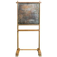 Vintage Standing Child's Chalkboard from European School House