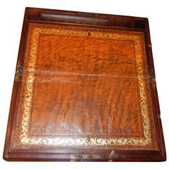 Late 18th Century George III Mahogany Writing Box with Fine Leather Slope