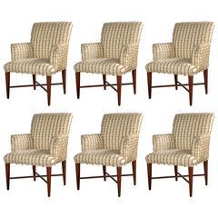 Set of Six Midcentury Armchairs