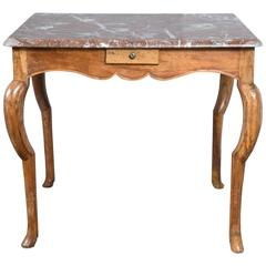 Marble-Top French Style Card Table