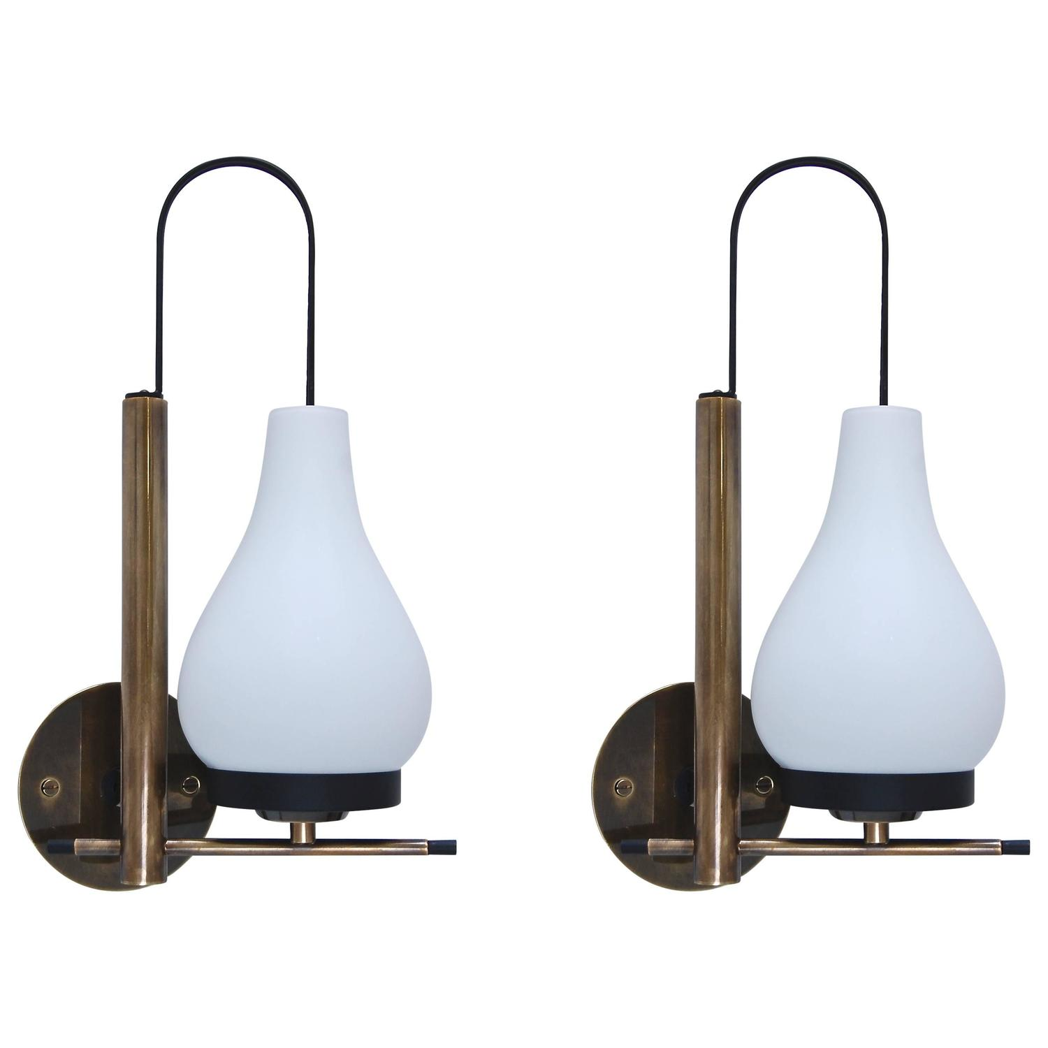 Wall Sconces Mid Century Modern : Mid-Century Modern Italian Sconces at 1stdibs
