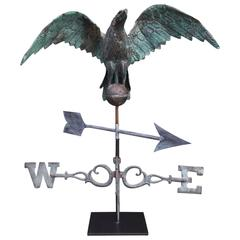American Full Bodied Copper Eagle Directional Weather Vane, Circa 1883