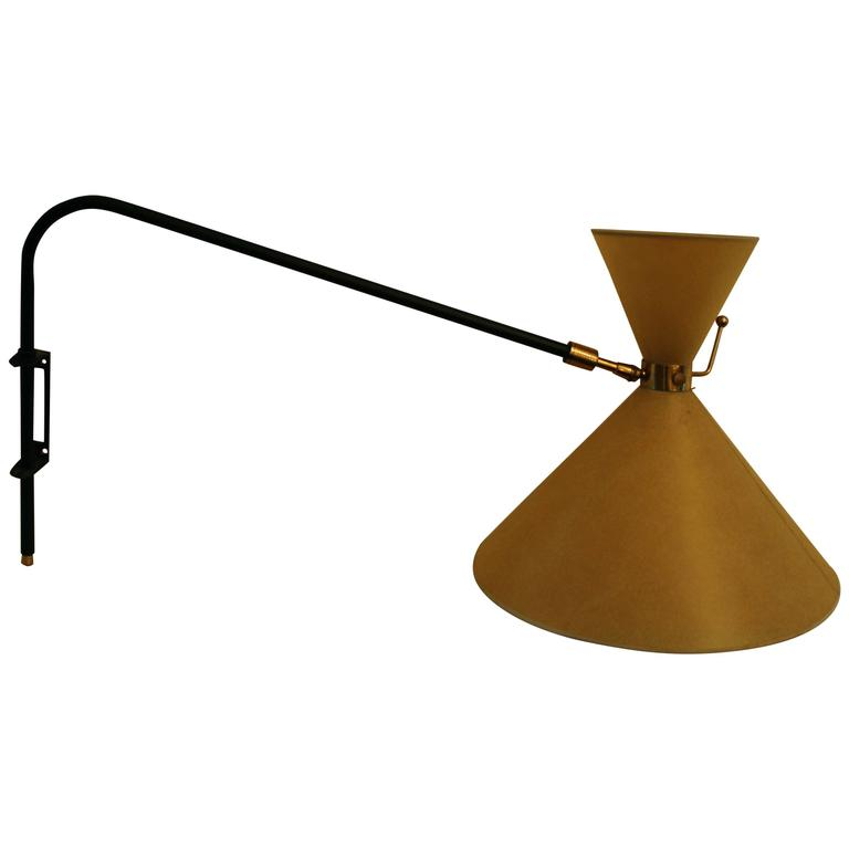 Large Midcentury Sconce by Lunel