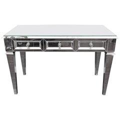 Custom Beveled Starphire Mirror Desk / Vanity