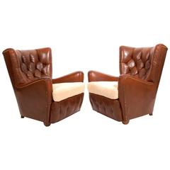 Pair of 1920s Danish Easy Chairs