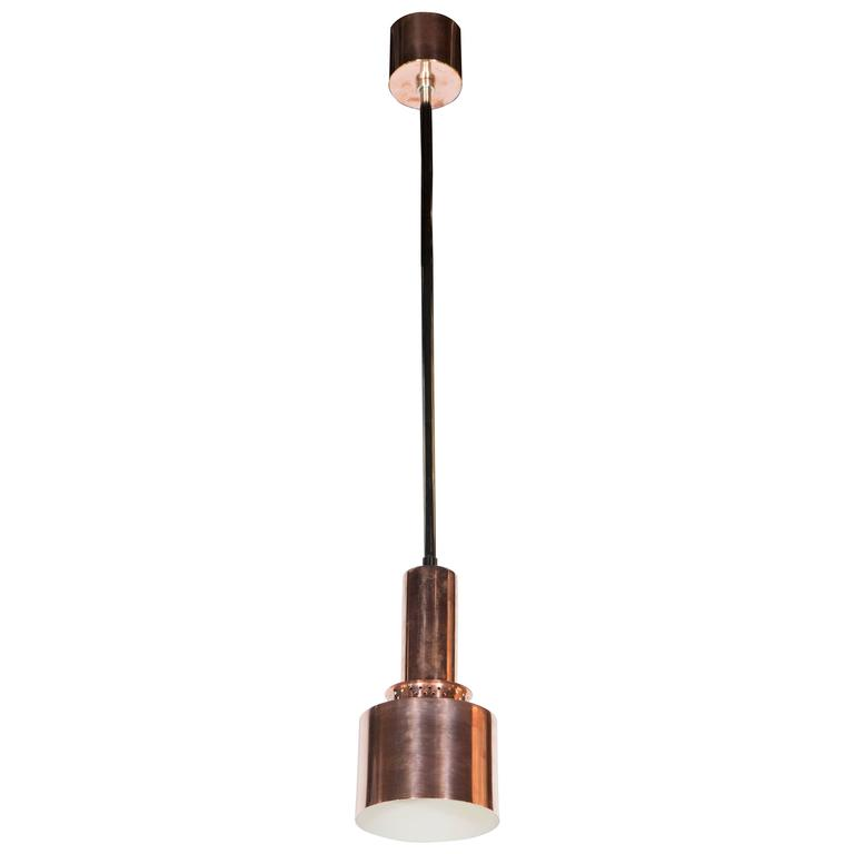 Industrial Mid-Century Modernist Copper Pendant by Hans Agne Jakobsson