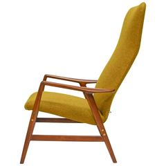 Alf Svensson for DUX Highback Reclining Lounge Chair and Ottoman