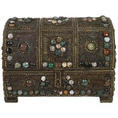 Large Vintage Inlaid Moroccan Wedding Jewelry Box