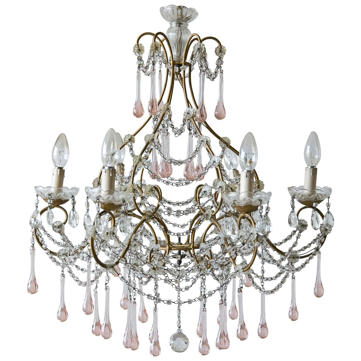 Antique Italian Crystal Chandelier Circa 1890 at 1stdibs