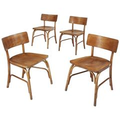 Set of six 1930s Husum Chairs by Frits Schlegel