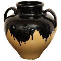 Large Dramatic Glazed Urn, circa 1960