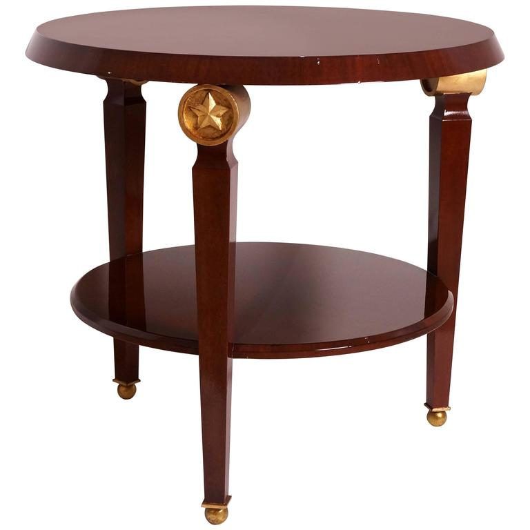 Two-Tiered Center Table in the Style of Maison Jansen, France, 1960s  For Sale