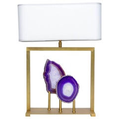 Charming Purple Agates and Brass Lamps