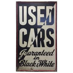 Great Super Large Graphic Used Car Sign