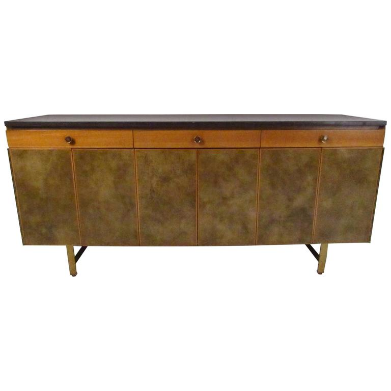 Mid-Century Modern Paul McCobb for Calvin Group Travertine Sideboard