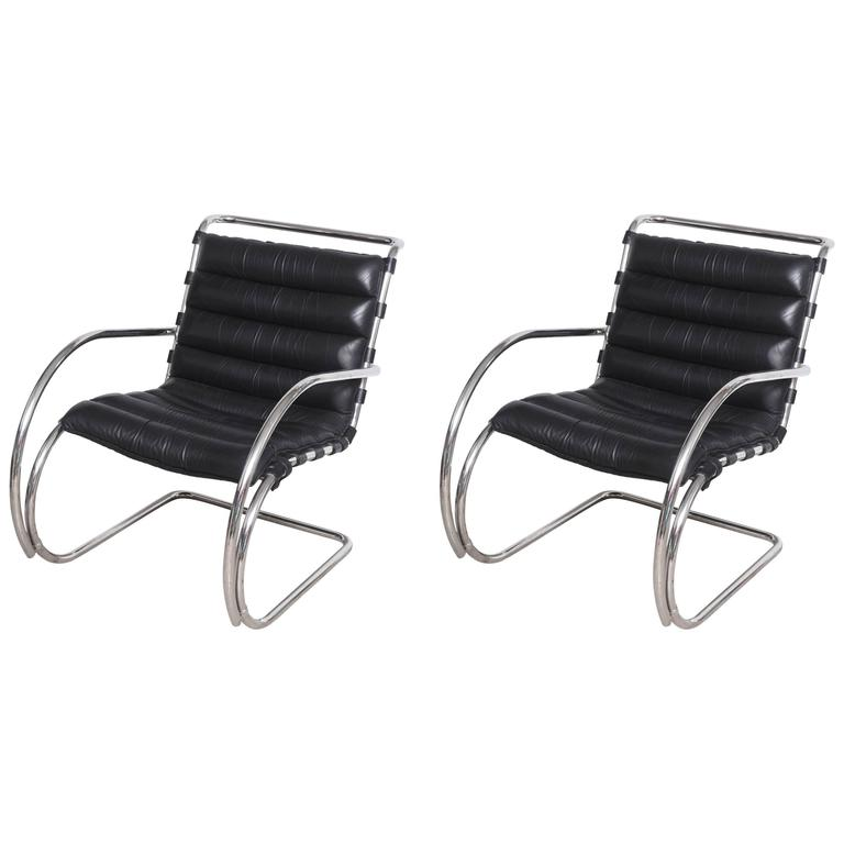 century edition bauhaus mies van der rohe mr lounge chairs by knoll 1