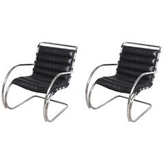Mid-Century Edition Bauhaus Mies van der Rohe Mr. Lounge Chairs by Knoll
