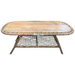 Adirondack Oak and Rawhide Coffee Table