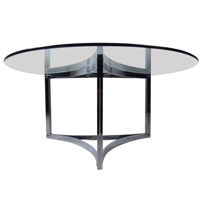 Mid-Century Modern Chrome Coffee Table