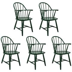 Green Windsor Armchairs by Josef Frank Vienna, circa 1925 for Haus Und Garten