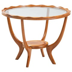 Italian Midcentury Sycamore Side Table
