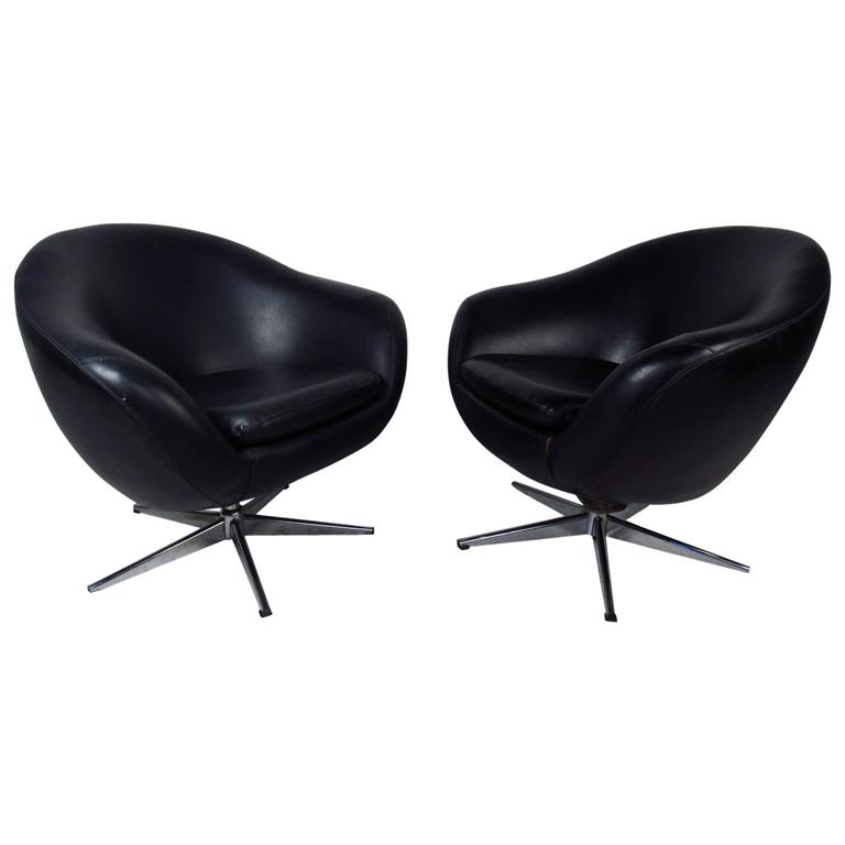 Pair of Overman Pod Swivel Chairs
