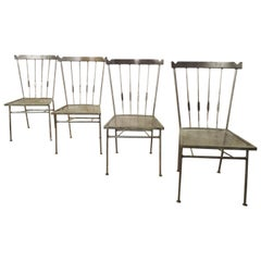Restored Metal Spindle Back Chairs