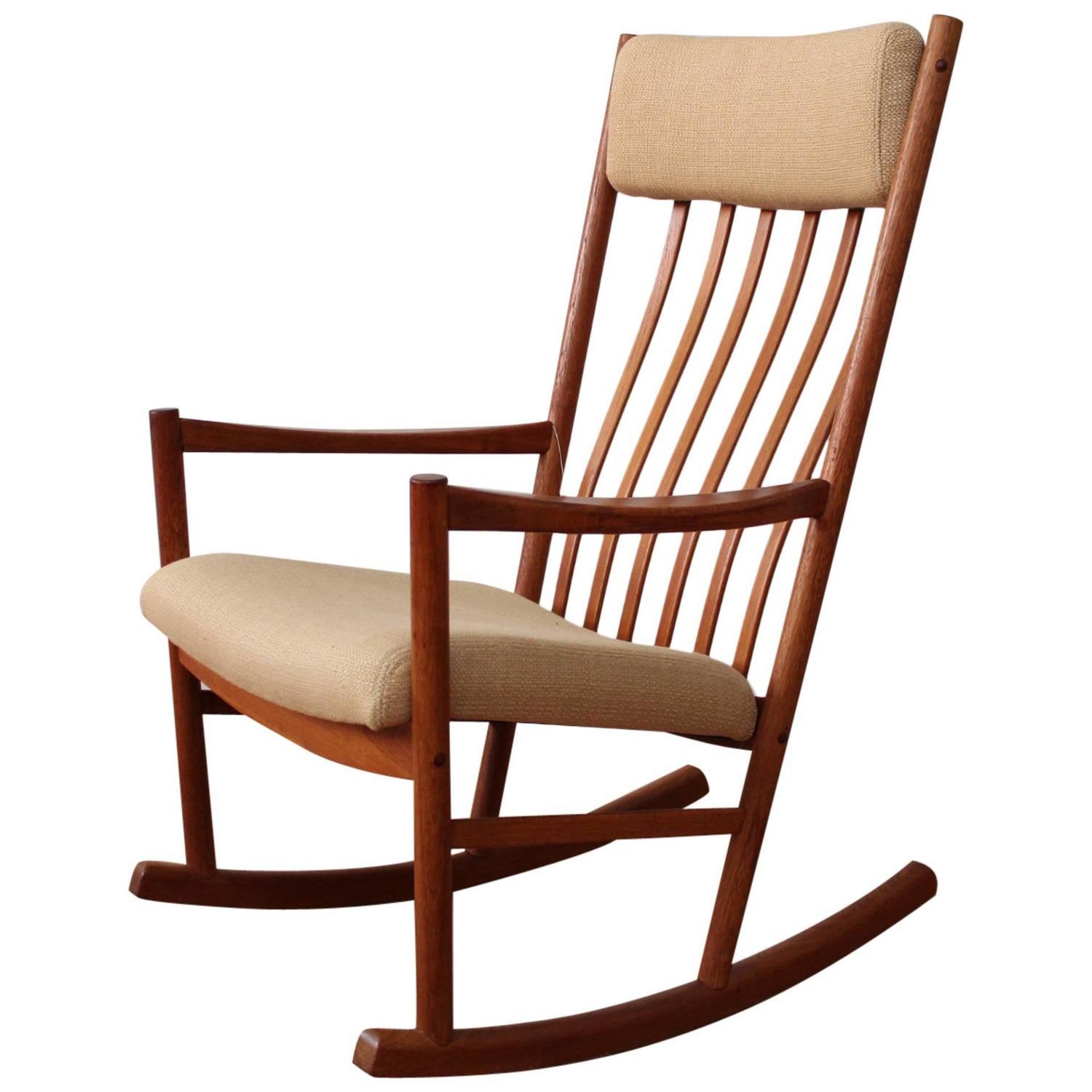 Danish Modern Teak Rocking Chair At 1stdibs
