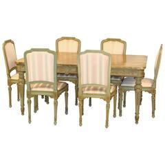 9 Piece Louis XVI style dining room set.