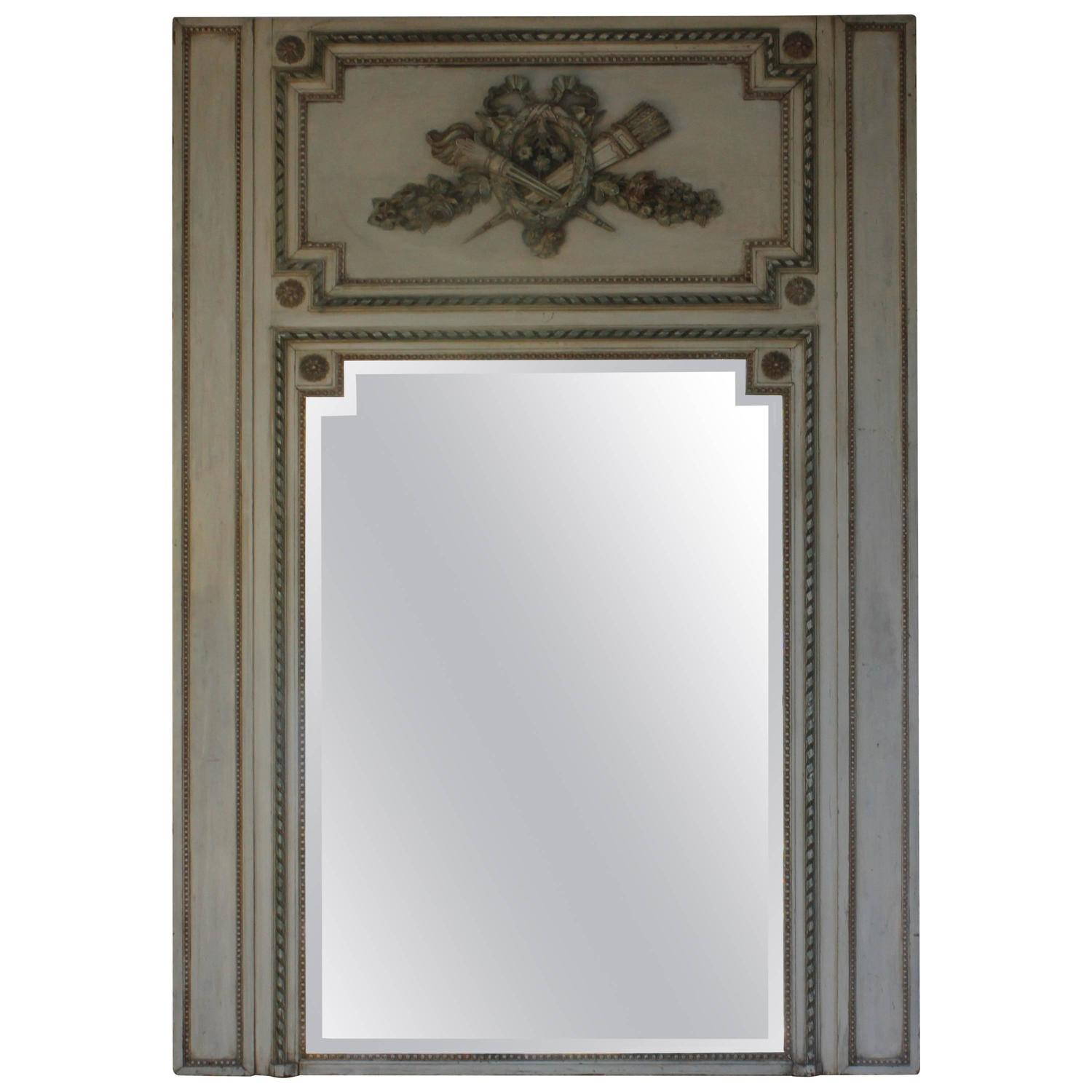 french trumeau mirror for sale at 1stdibs. Black Bedroom Furniture Sets. Home Design Ideas