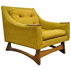 Mid Century Modern Sculpted Club or Lounge Chair attr, to Adrian Pearsall
