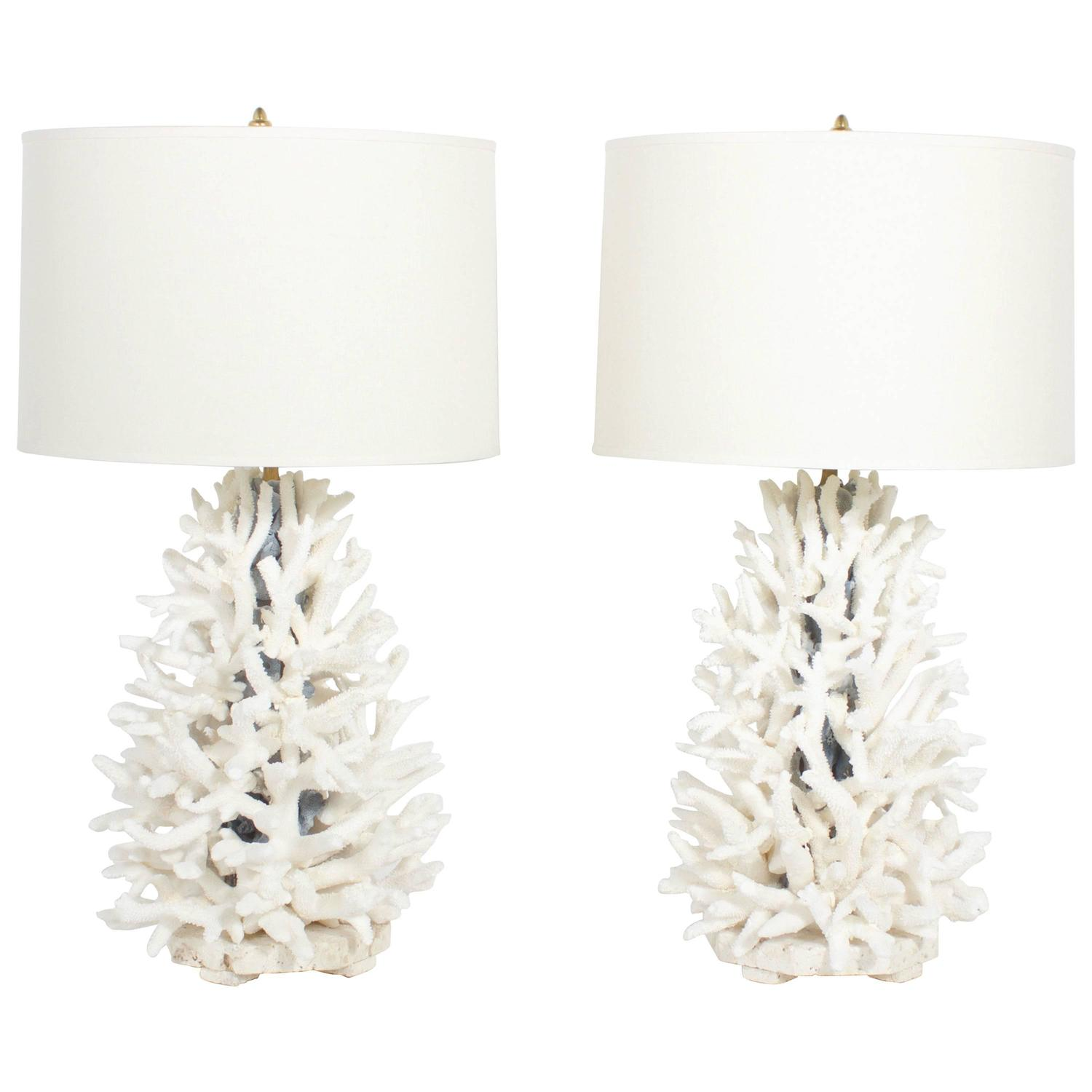 Pair Of Staghorn And Blue Coral Lamps