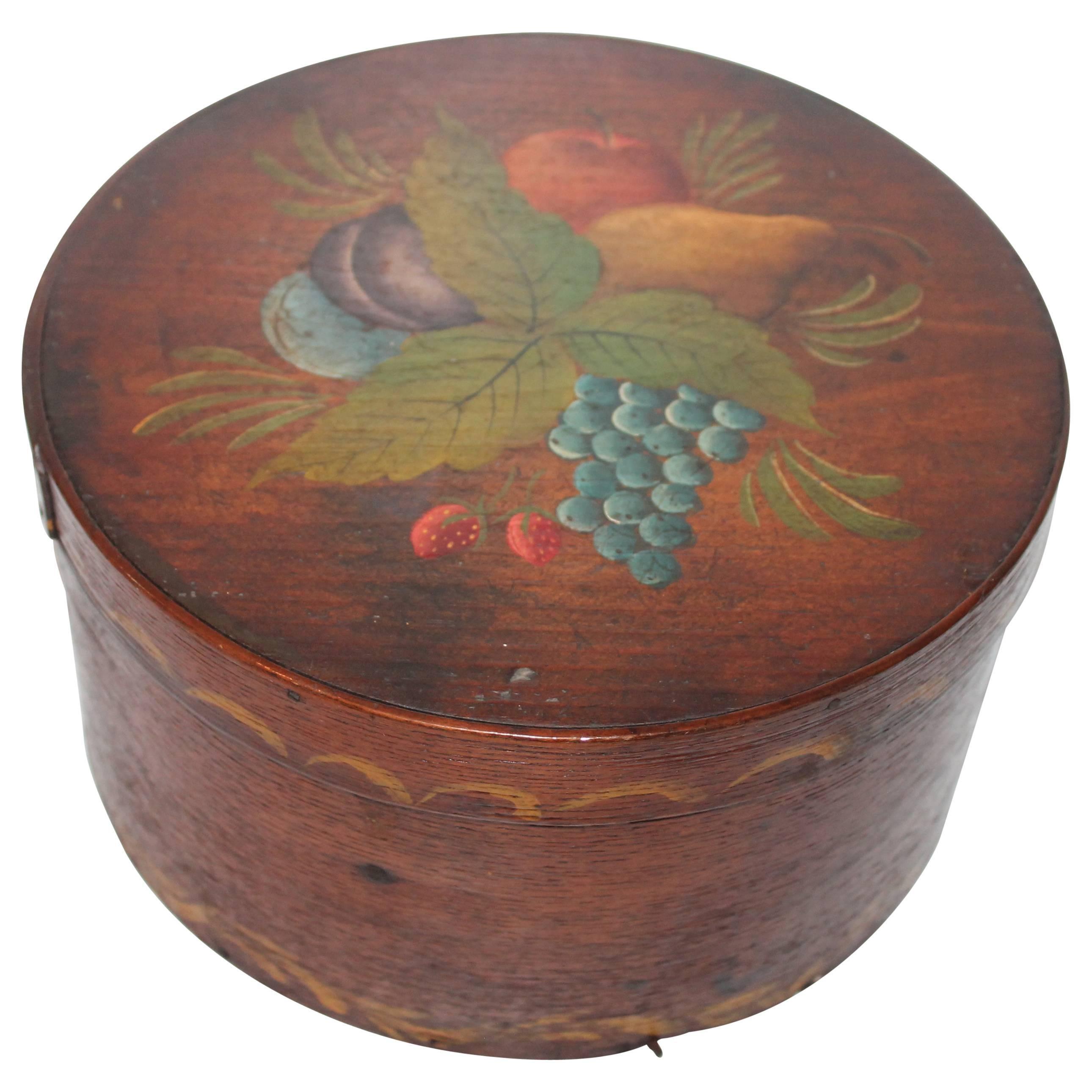 19th Century Original Painted Therom Style Pantry Box