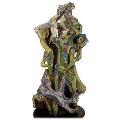 Published Massive Studio Cubist Sculpture by Marcello Fantoni, 1955