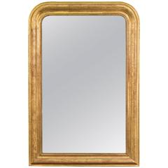 Antique Louis Philippe Period Gold Leaf Mirror from France