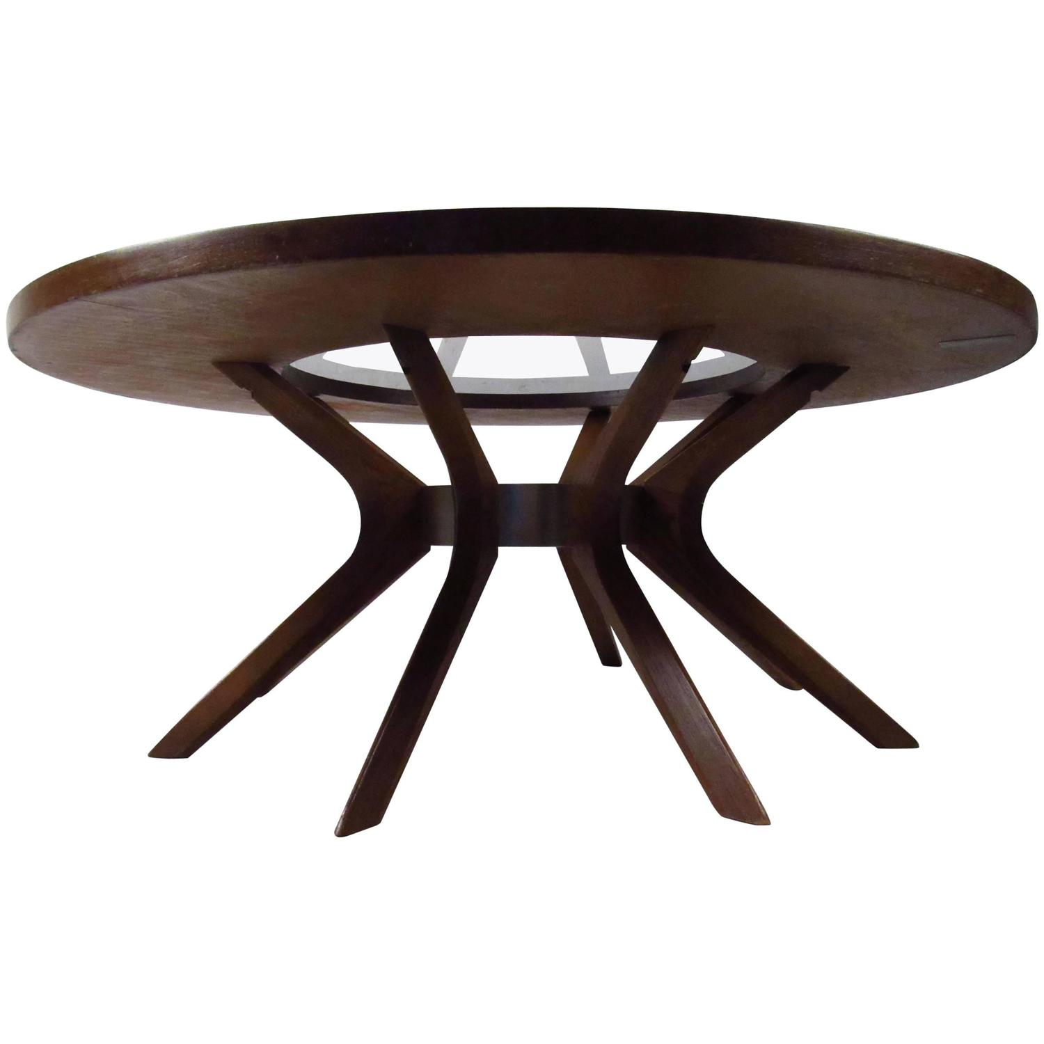 Mid Century Modern Broyhill Brasilia Cathedral Coffee Table For
