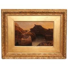 Oil by W.H. Mason, Boscastle Cornwall