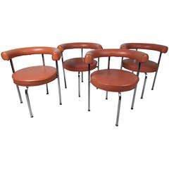 Mid-Century Modern Cassina Style Barrel Back Side Chairs