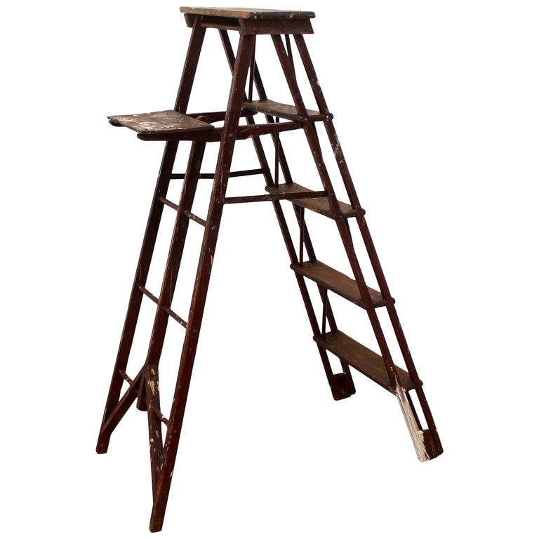 Antique Vintage Painter s Ladder Early 20th Century For