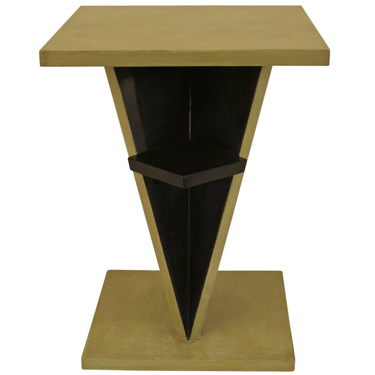 French Art Deco End Table Attributed to Jean Dunand
