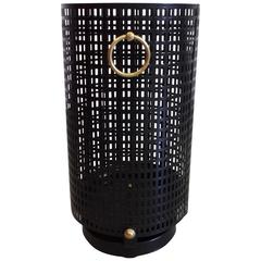 Elegant French, 1950, Waste Basket/Umbrella Stand by Jacques Adnet