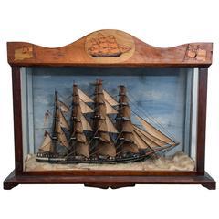 Ship Diorama, English, circa 1865
