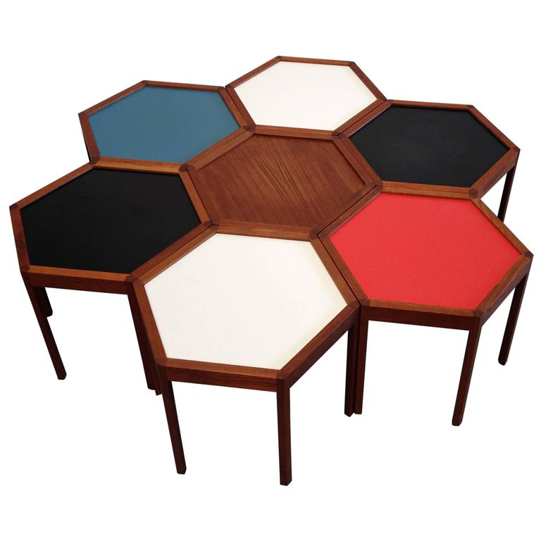 Colorful Hans Andersen Segmented Coffee Table At 1stdibs